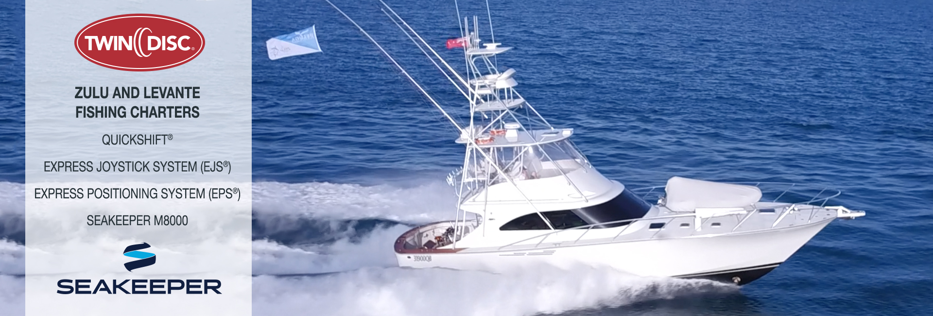 Banner picture of a boat fitted with Seakeeper stabilisers